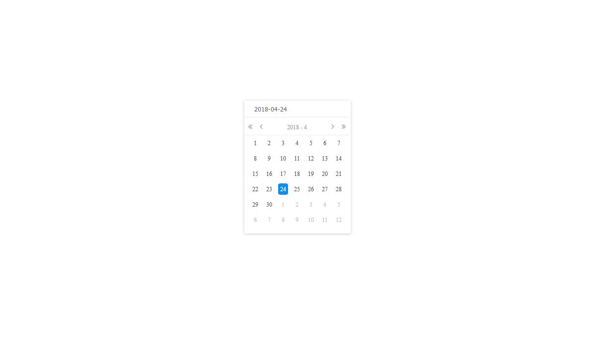 Demo image: react-calendar