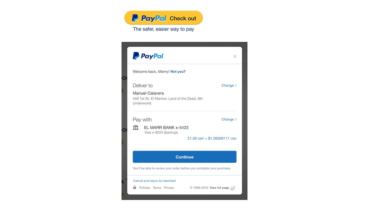 Demo image: paypal-checkout