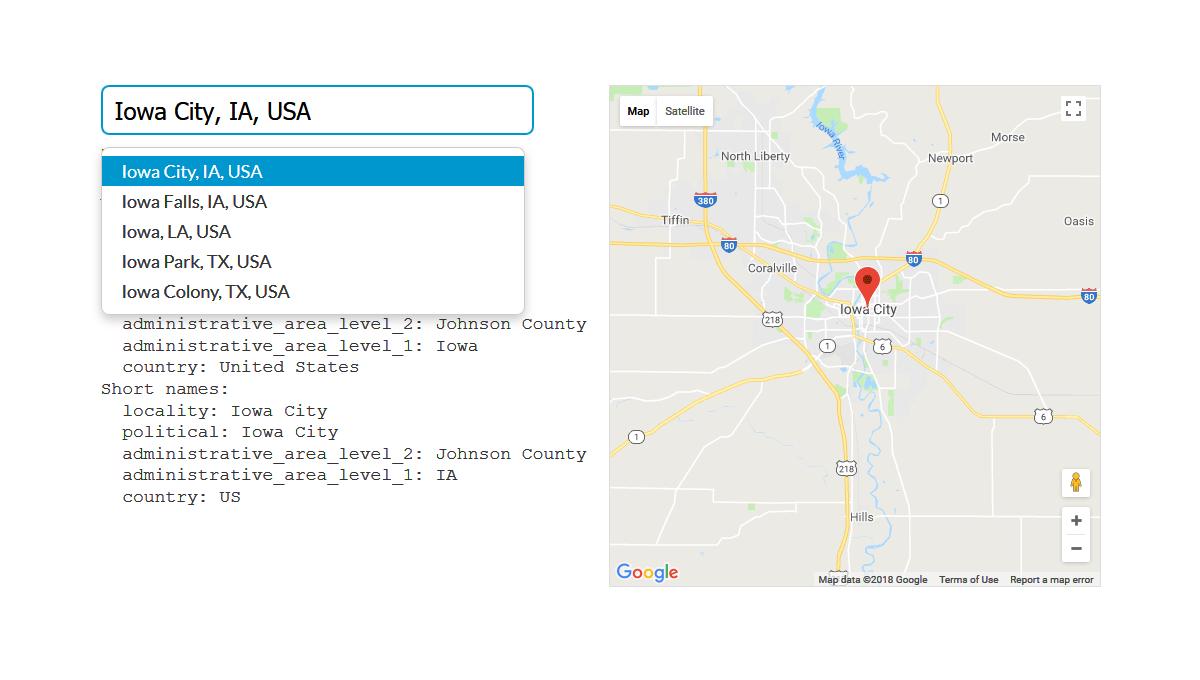 Demo image: Typeahead Address Picker
