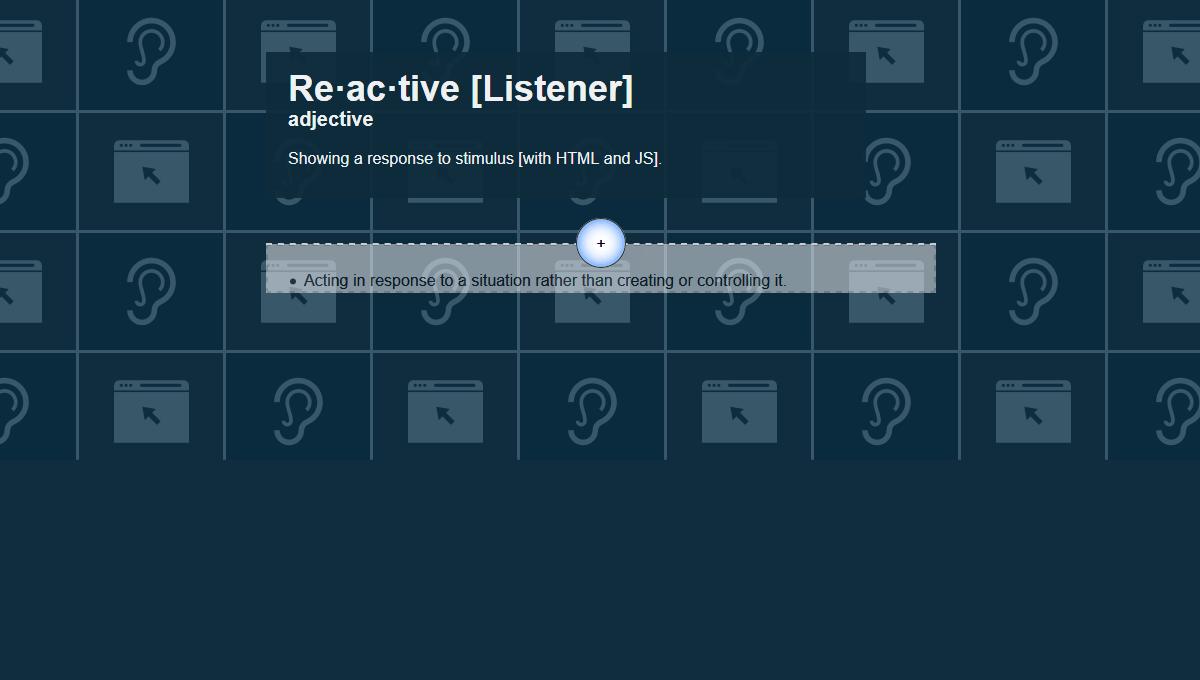Demo image: Reactive-Listener