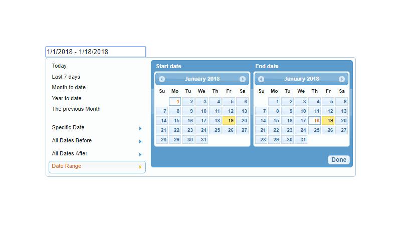 Demo image: jQuery UI Date Range Picker