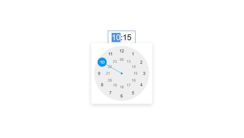 Demo image: Clock Timepicker