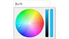 Demo image: Wheel Color Picker Plugin For jQuery