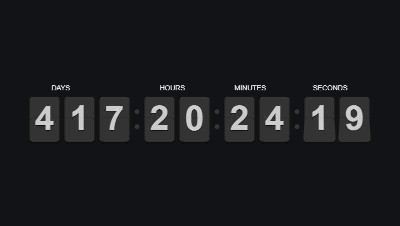 Demo image: Countdown