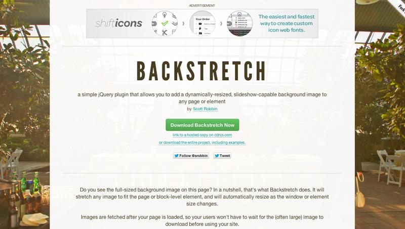 Demo image: Backstretch