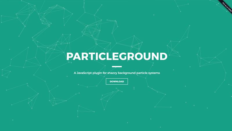 Demo image: Particleground