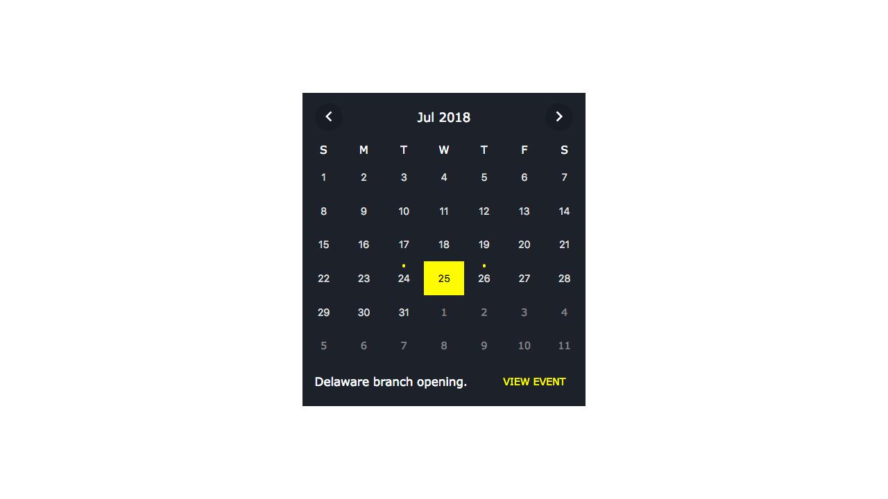 Demo image: jQuery Mini Event Calendar
