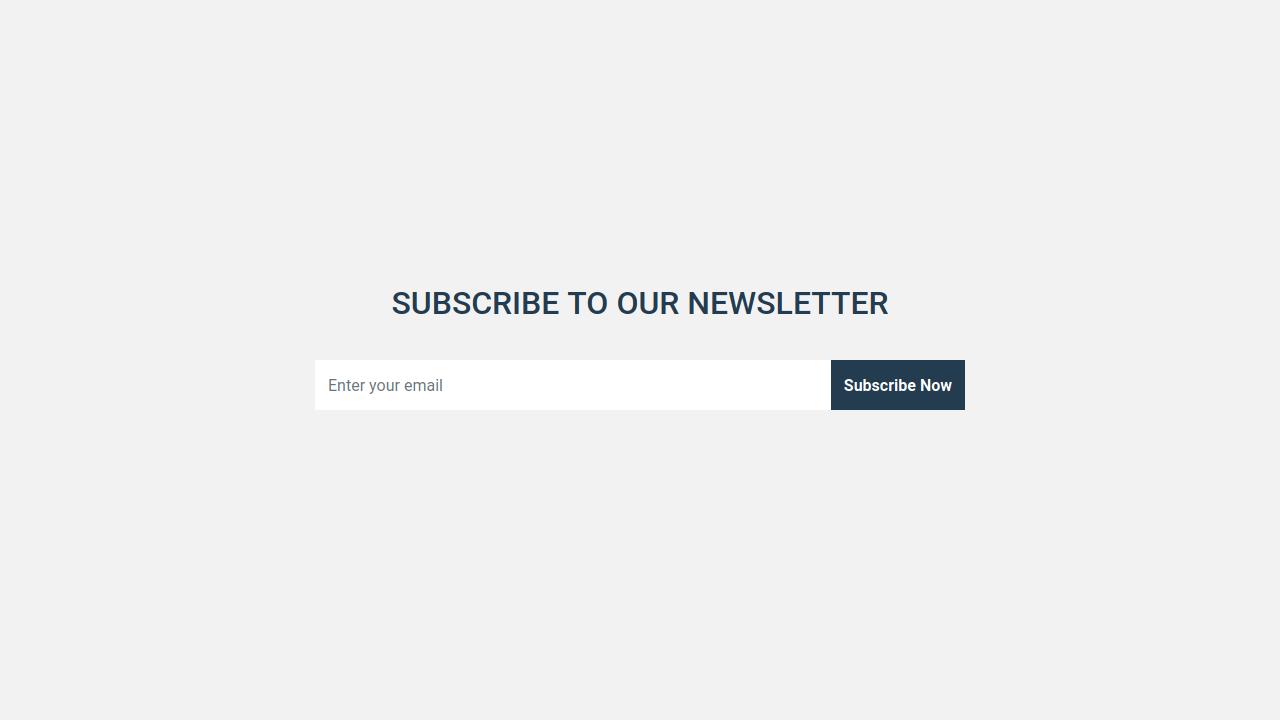 Demo image: Bootstrap Newsletter Form