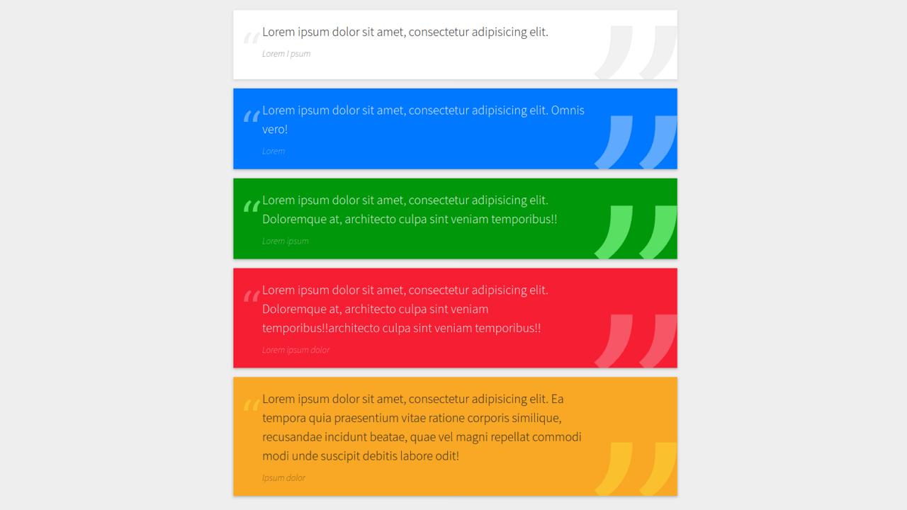 Demo image: Bootstrap Quote Block