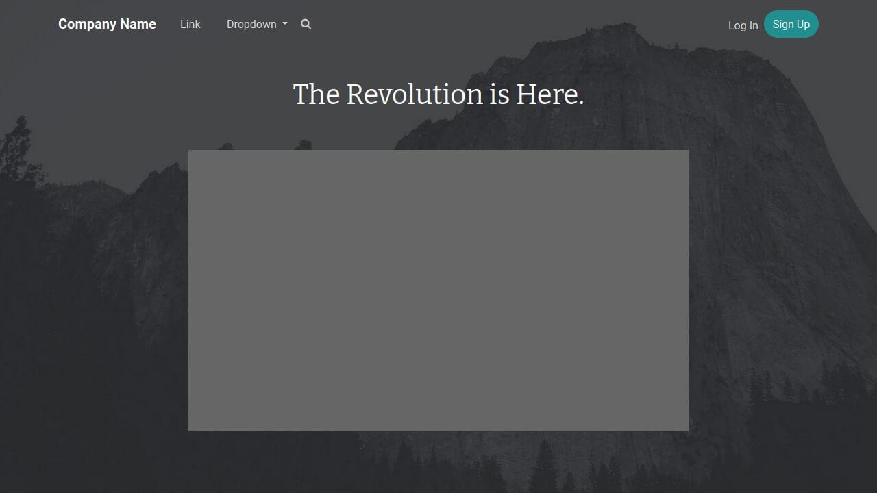 Demo image: Bootstrap Header Dark
