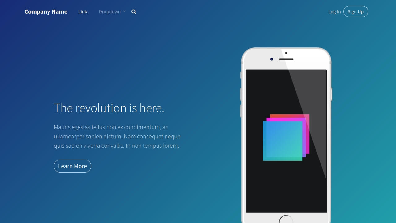 Demo image: Bootstrap Header Blue