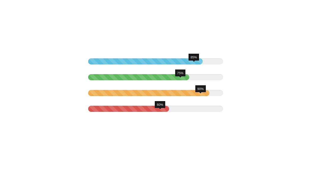 Demo image: Bootstrap Progress Bar Style 42