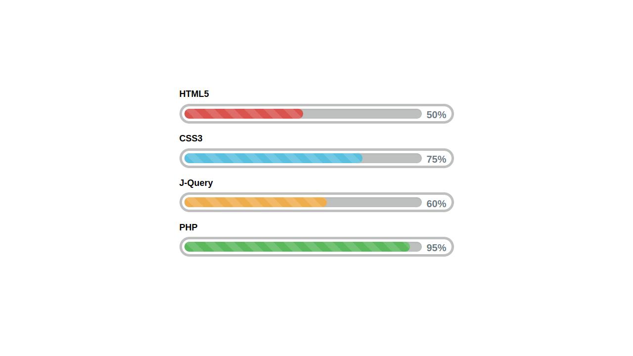 Demo image: Bootstrap Progress Bar Style 78