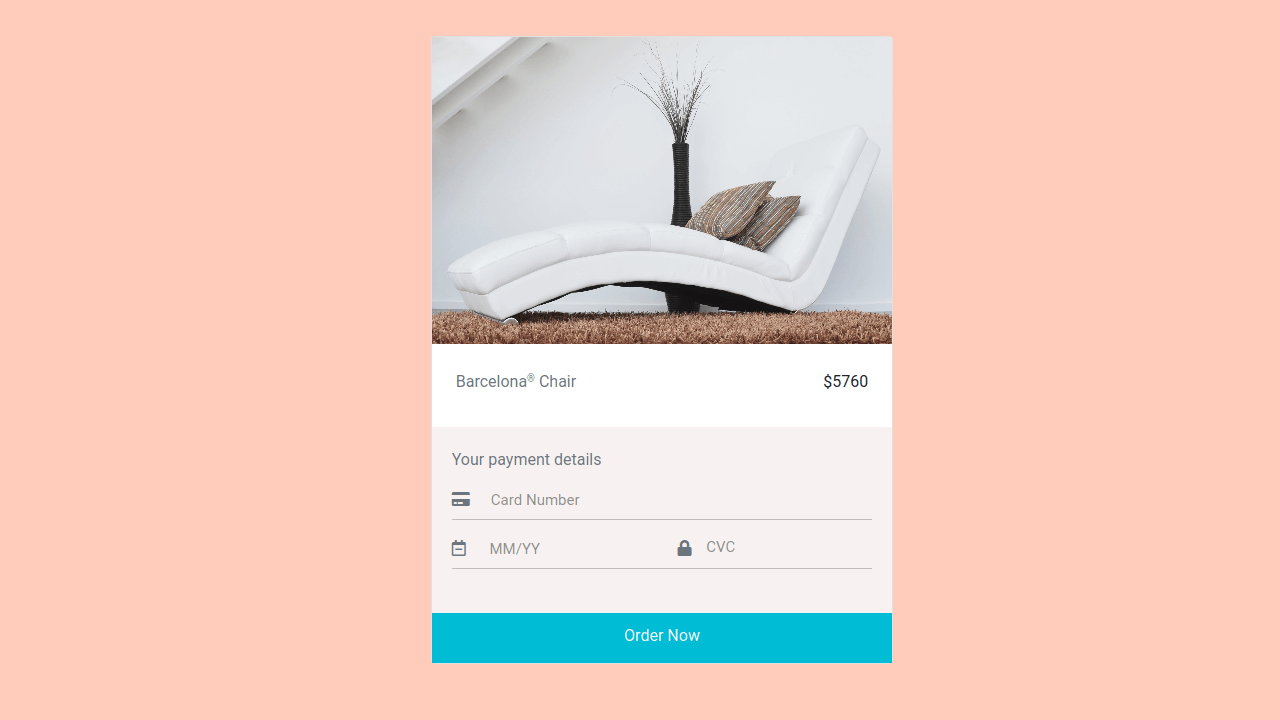 Demo image: Bootstrap 4 Payment Form