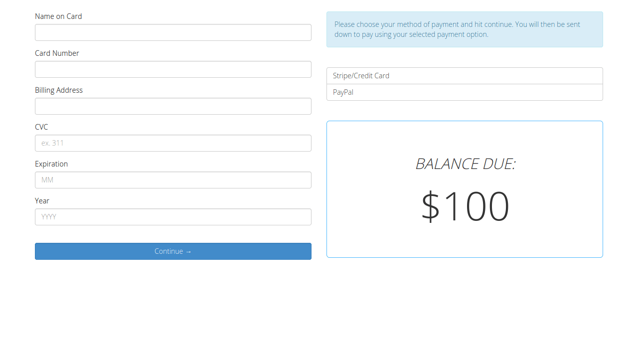 Demo image: Bootstrap Stripe Payment