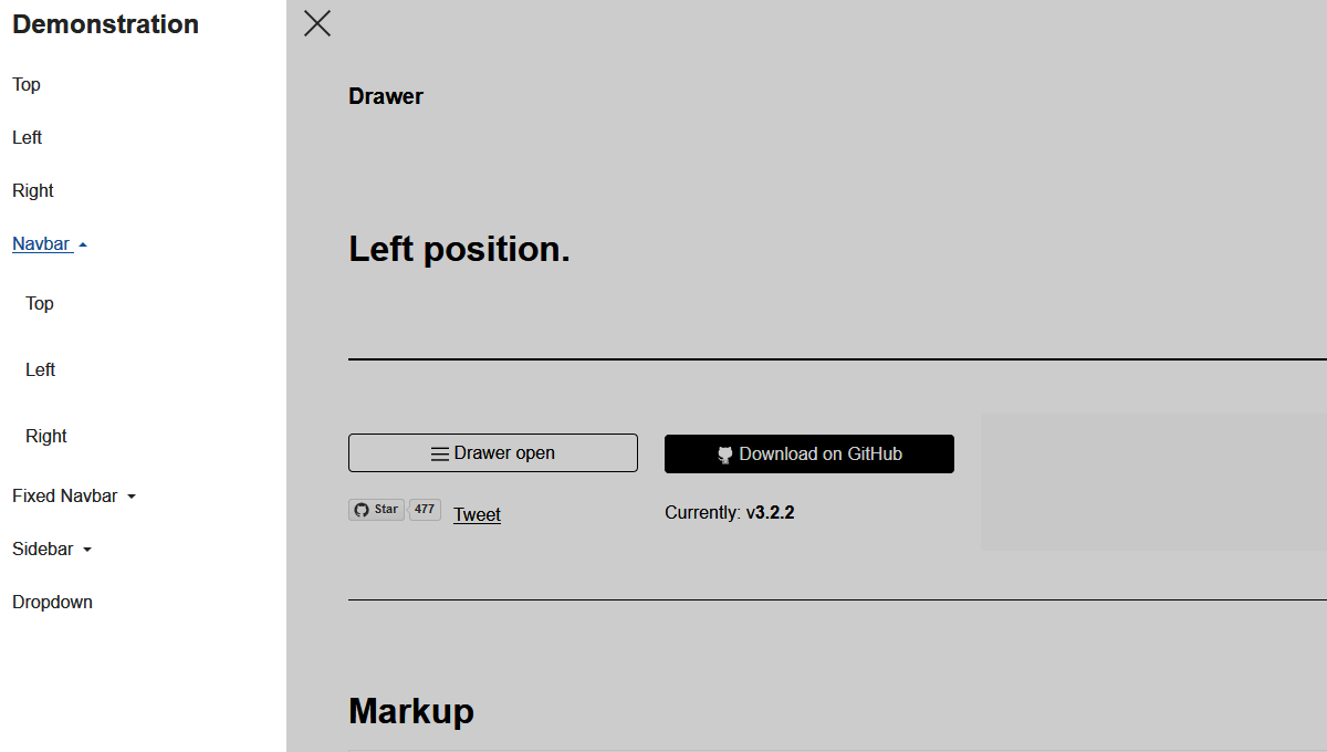 Demo image: Drawer
