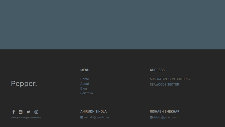 Demo image: Bootstrap 4 Simple Footer