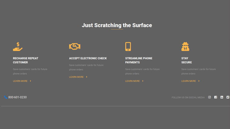 Demo image: Bootstrap 4 Footer Bottom Responsive Template