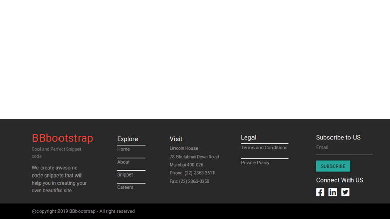 Demo image: Bootstrap 4 Footer