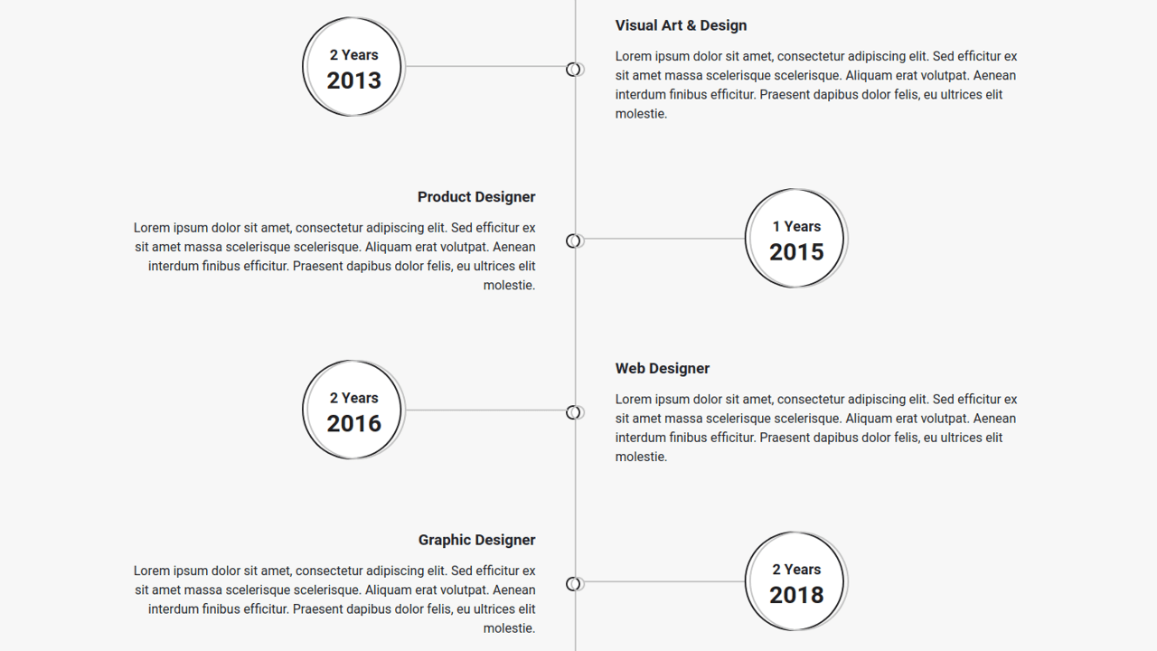 Demo image: Bootstrap 4 Experience Timeline