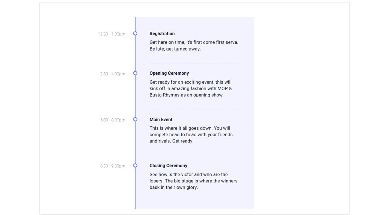 Demo image: Timeline Events