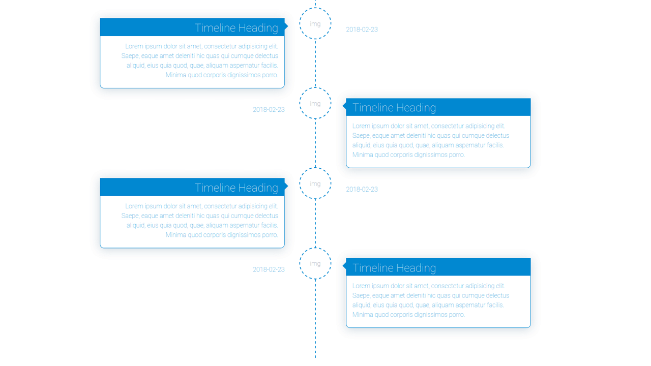 Demo image: Timeline with Date