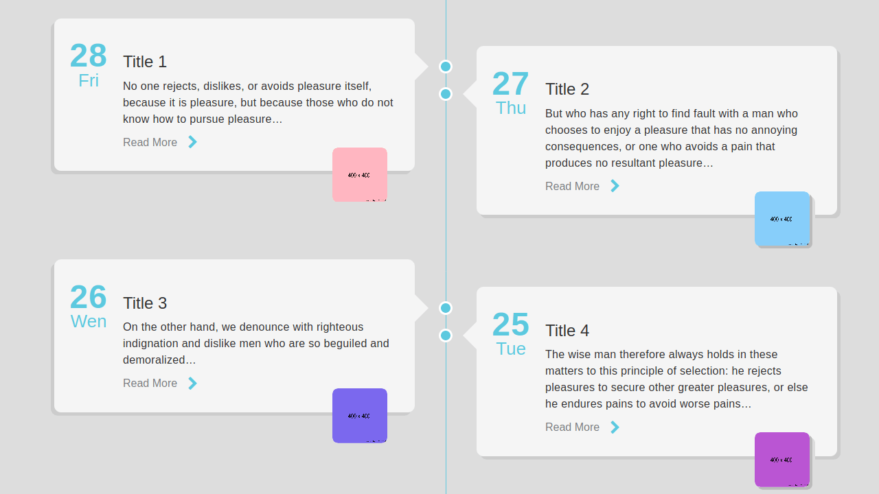 Demo image: Timeline with Small Images
