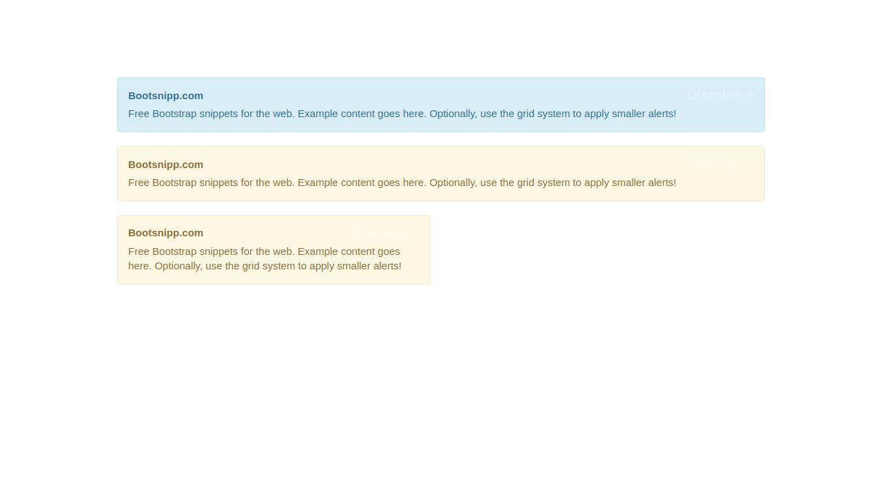 Demo image: Clean Bootstrap Dismissable Alert