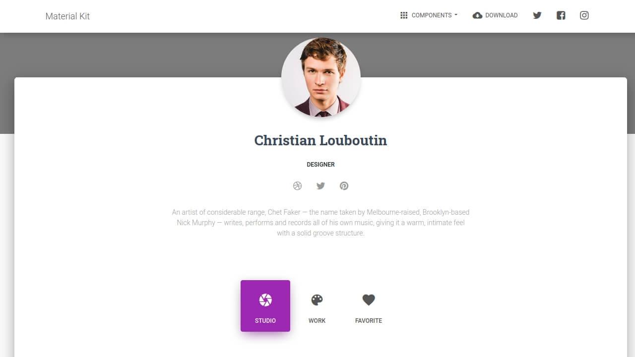 Demo image: Bootstrap Profile Page
