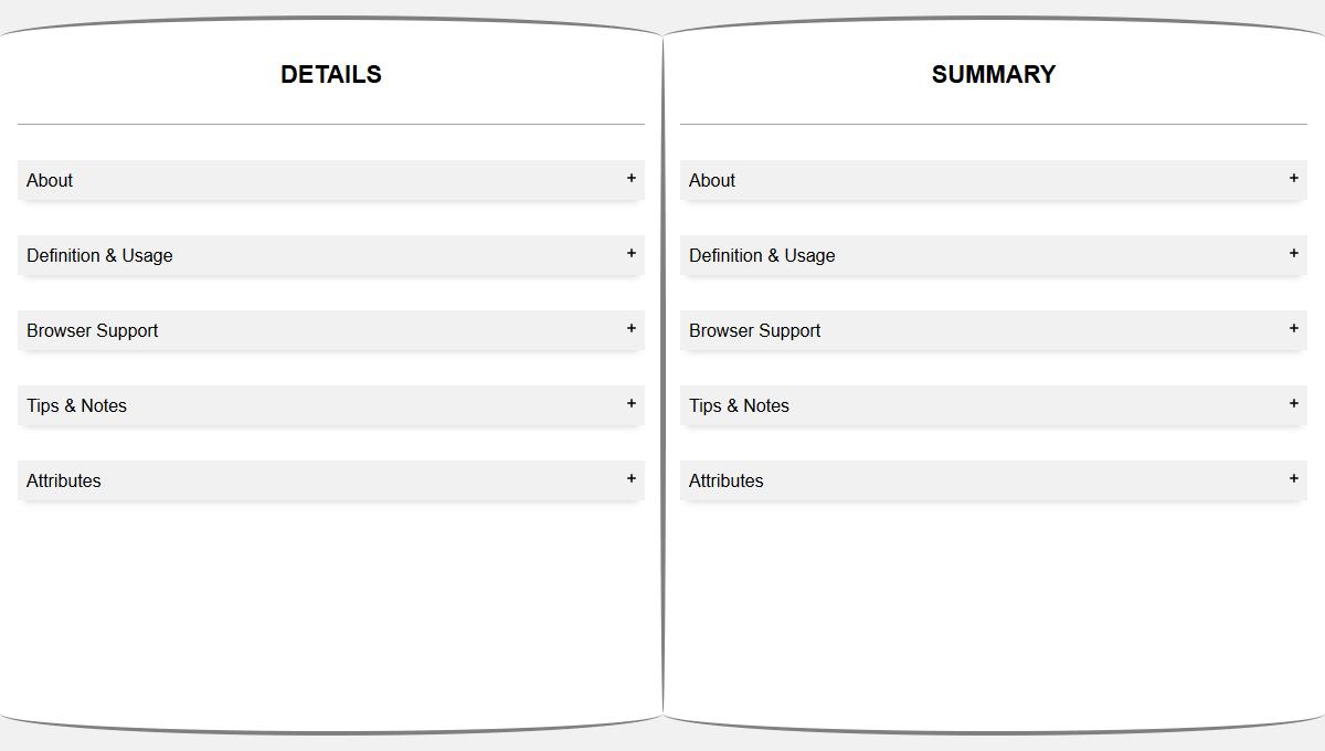 Demo image: Responsive Web Page Split Screen