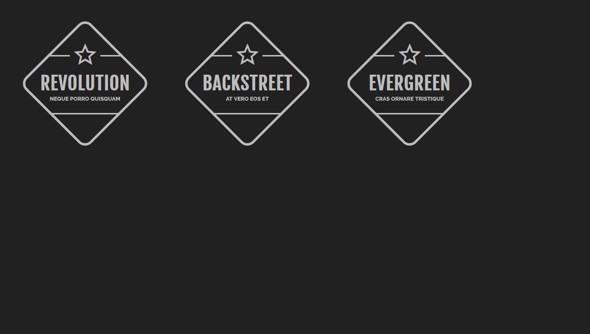 Demo image: CSS Badges