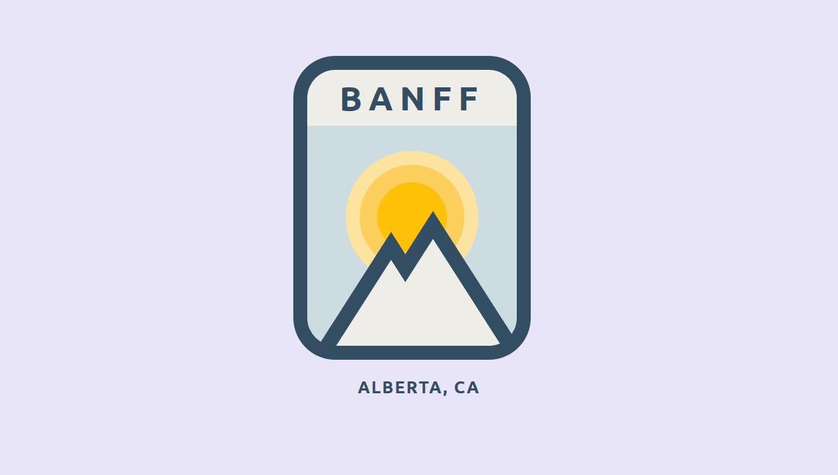 Demo image: Animated CSS Banff Badge