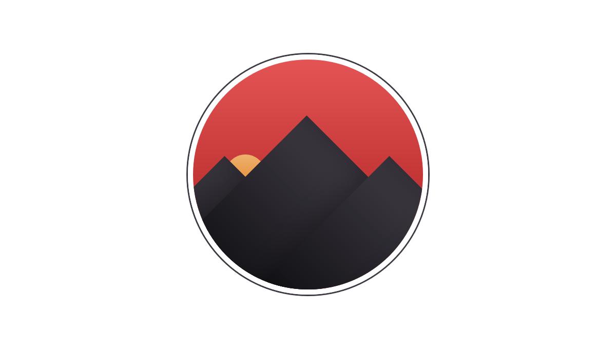 Demo image: CSS Sunset Badge