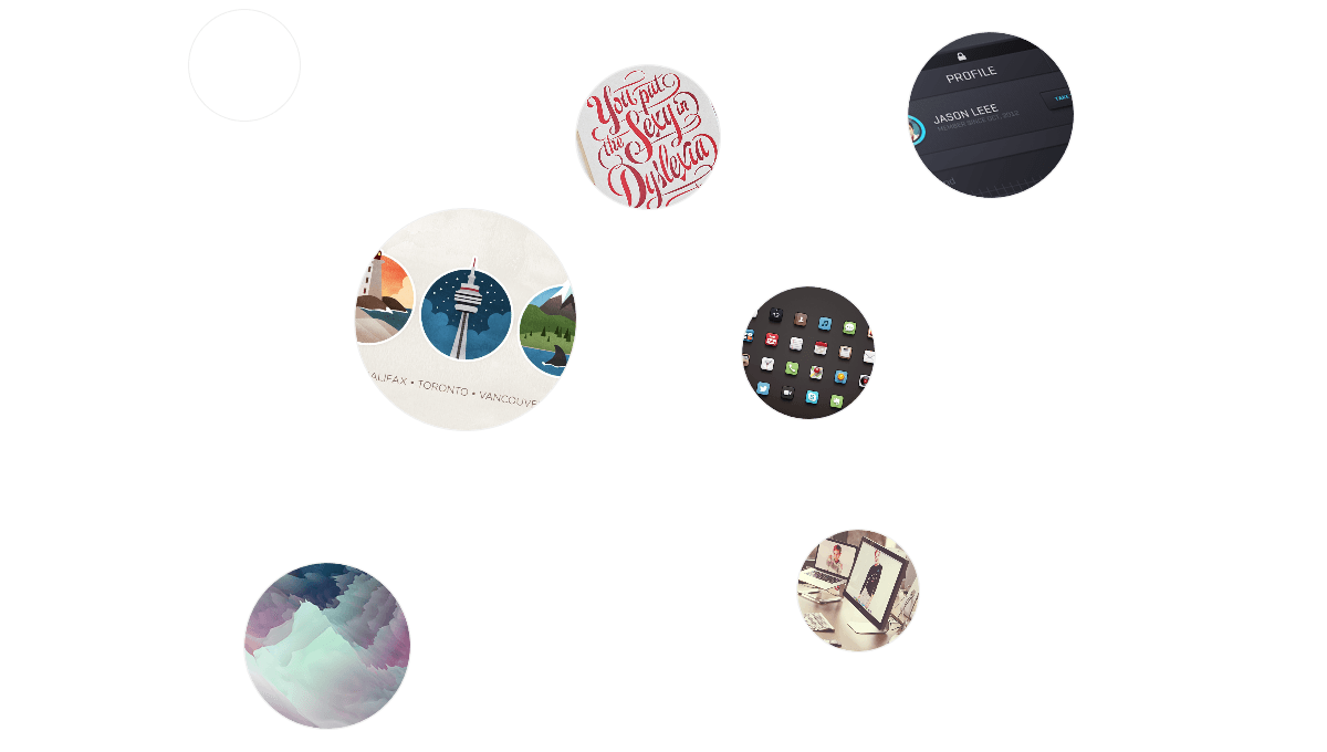 Demo image: Rounded Thumbnails Portfolio