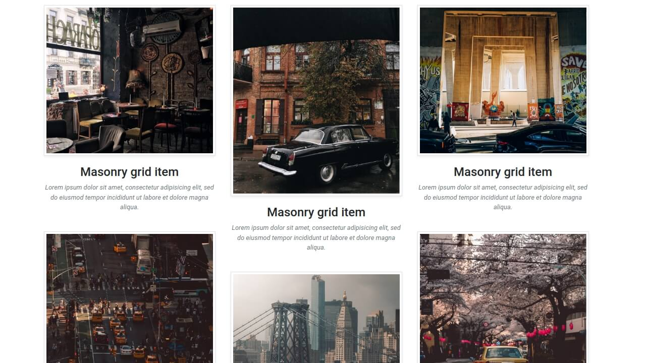 Demo image: Bootstrap Masonry