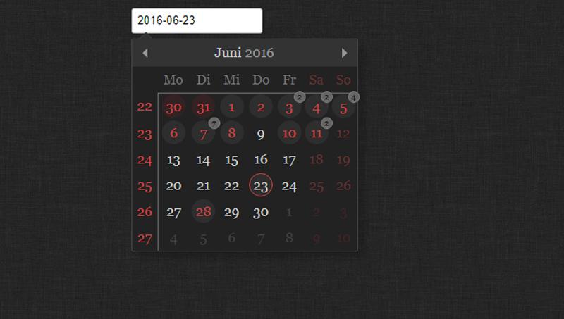 Demo image: TinyDatePicker And Calendar