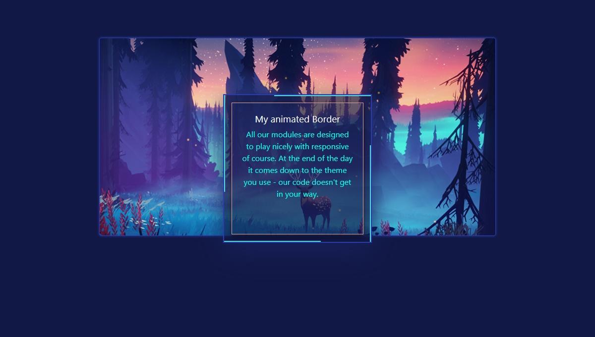 Demo image: Border Animation CSS