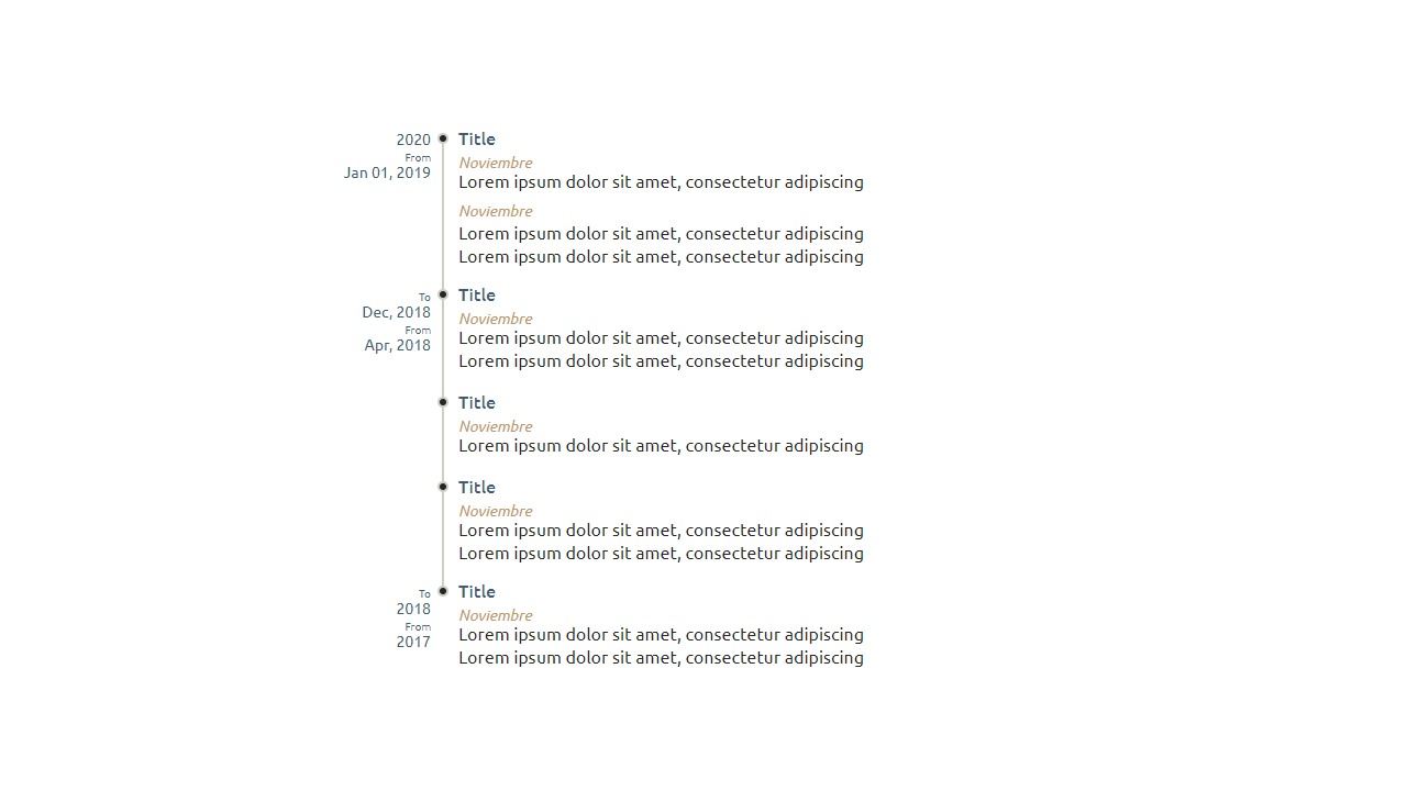 Demo image: Vertical Timeline Component React