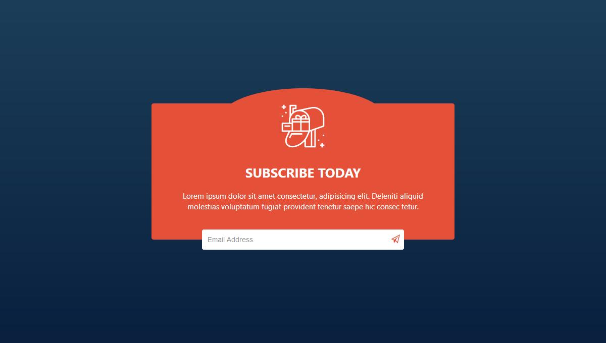 Demo image: Subscribe Form UI