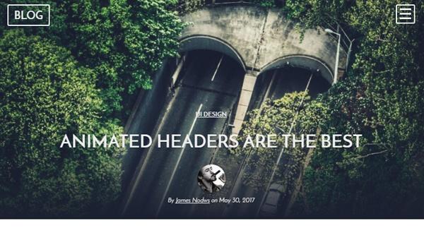 Demo Image: CSS Animated Header