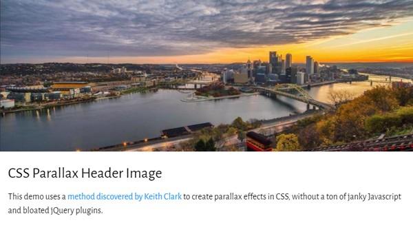 Demo Image: CSS Parallax Header Image