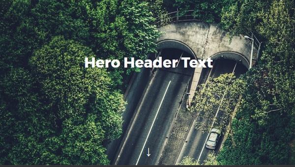 Demo Image: Flexbox Hero Header