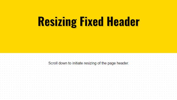 Demo Image: Responsive Scroll Header