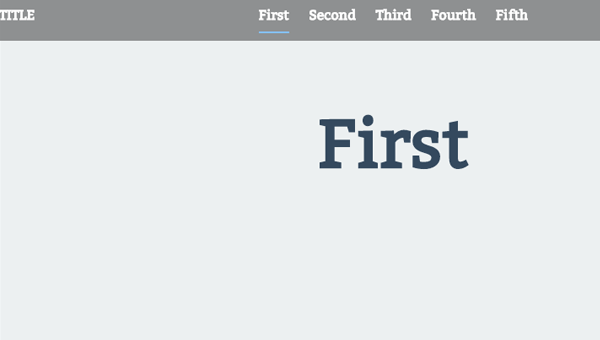 Demo Image: Fixed Header Scroll Effect And Smart Nav For One-Page Sites