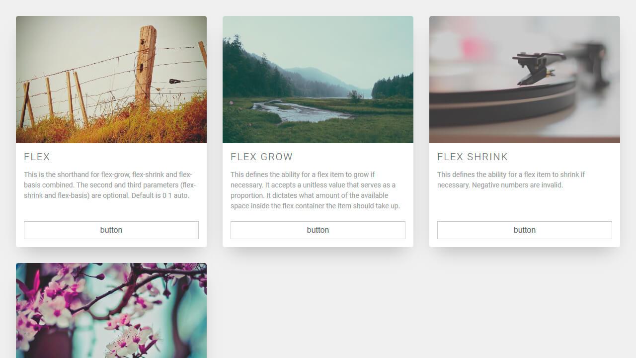 Demo image: Flexbox Card Grid