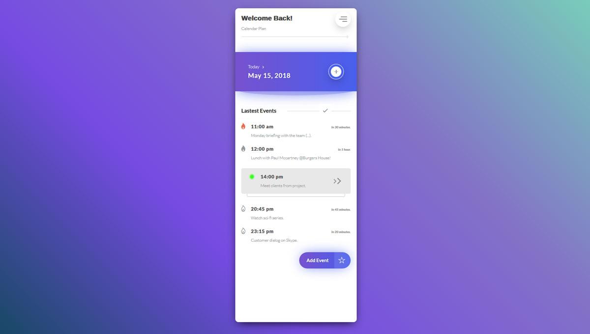 Demo image: Calendar Plan - Tasks Events App