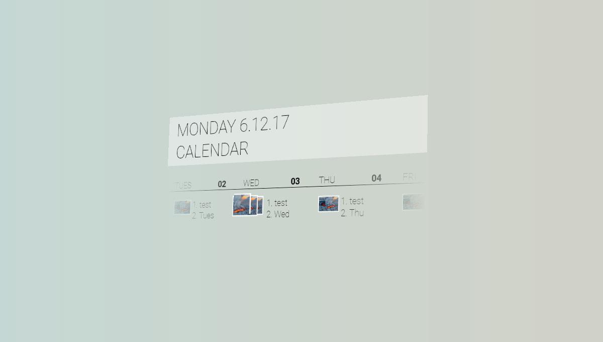 Demo image: Fluent Design: Calendar