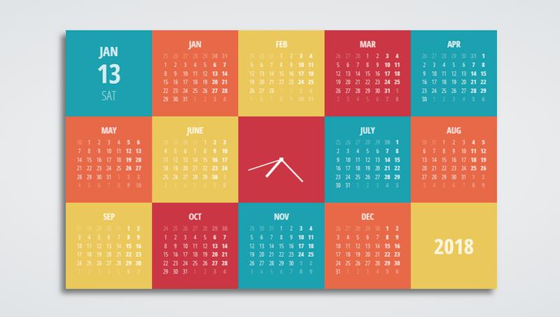 Demo image: Dynamic Data Calendar