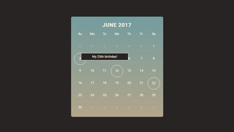Demo image: Calendar Mockup
