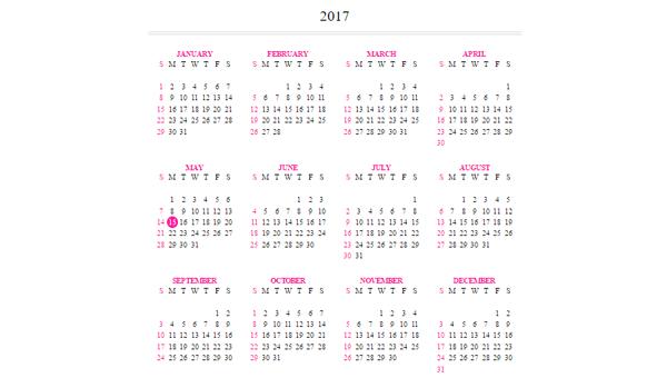 Demo Image: Responsive Calendar